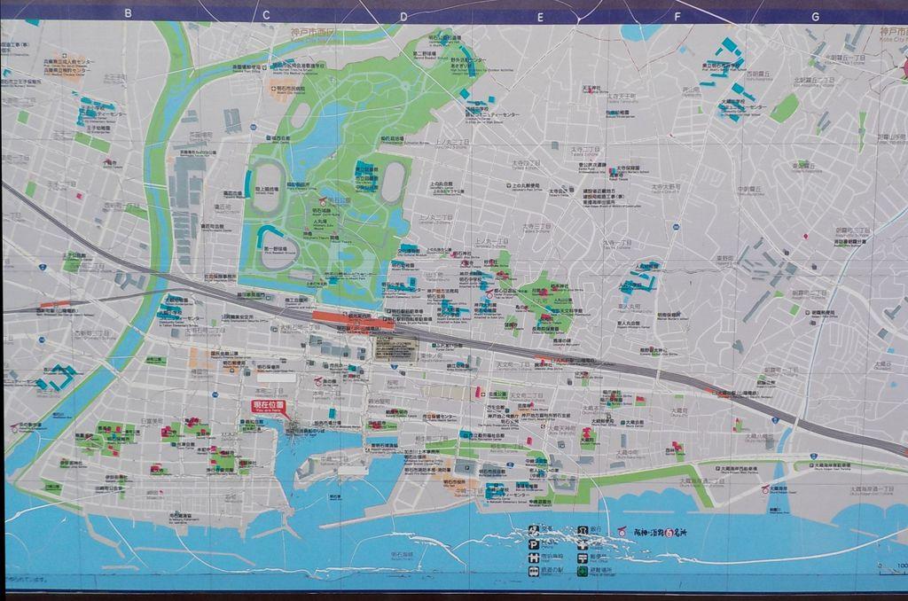 明石市観光案内板 広域版