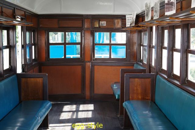 別府鉄道静態保存車両:ハフ5車内