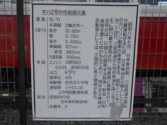 別府鉄道静態保存車両:キハ2