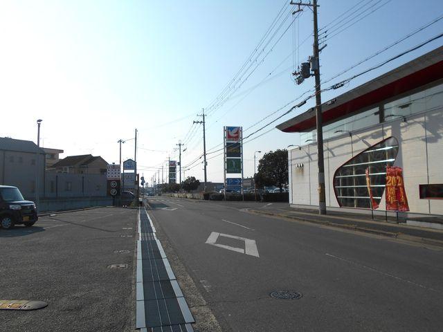 別府鉄道廃線跡を歩く:イトーヨーカドー東側の道路も廃線跡