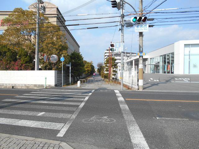 別府鉄道廃線跡を歩く:長砂西交差点