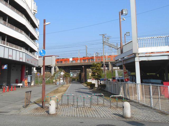 別府鉄道廃線跡を歩く:山陽電車別府駅