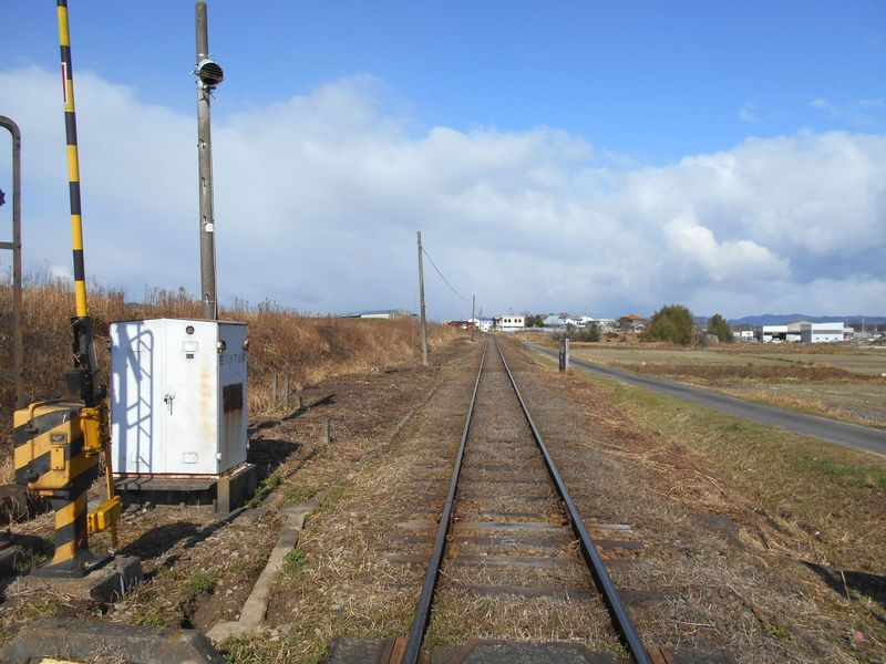 北条鉄道の線路は細い
