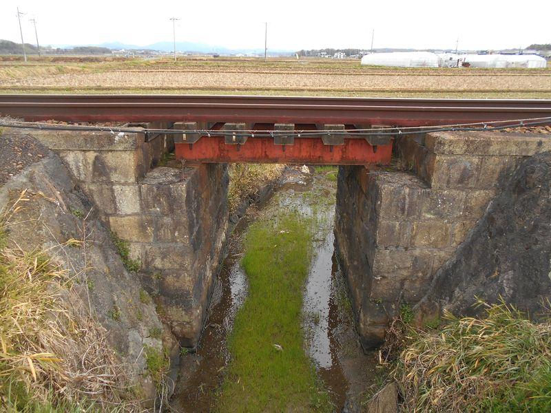 北条鉄道のミニ鉄橋