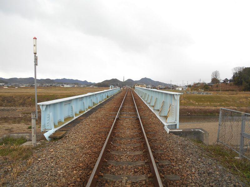 北条鉄道の万願寺川鉄橋