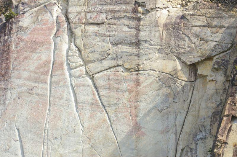 一枚岩の石の山の壁