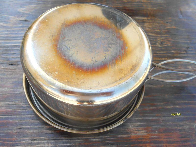 20分加熱して炊き上がりをひっくり返して蒸らす
