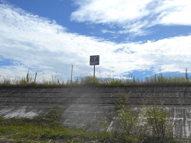 加古川河口より0.4Kmの表示