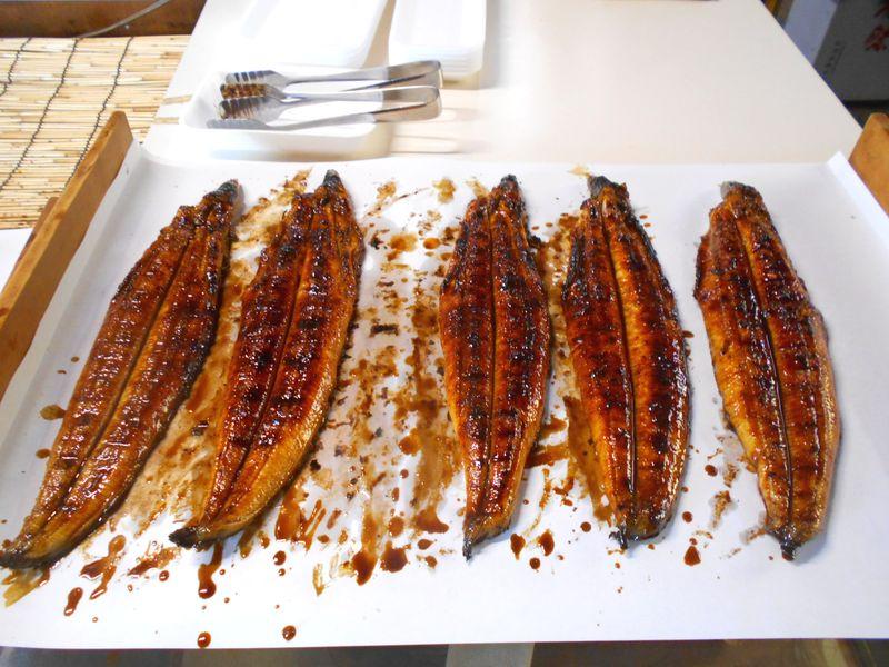 鰻のかば焼き このおいしそうな色つや