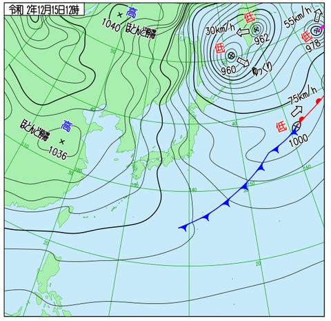 出典:気象庁HP天気図のページ