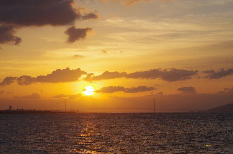正月3日、朝の雲が少なくほっこりとした日の出が見れた