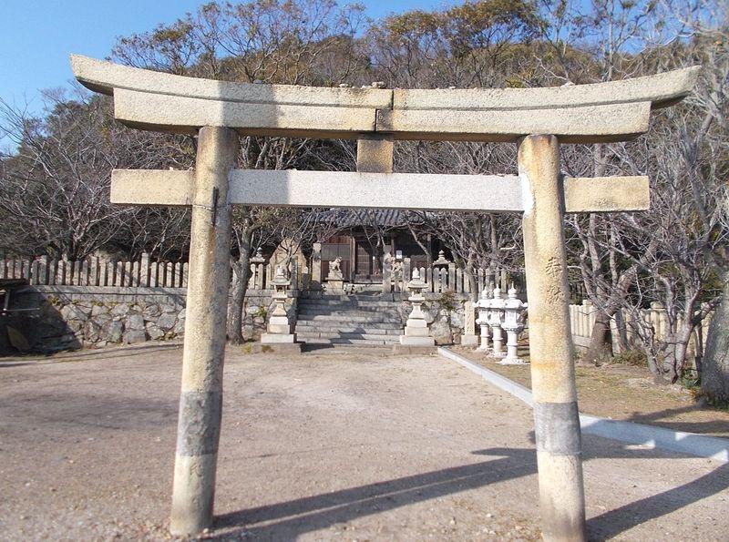 行基が鼻への途中に住吉神社