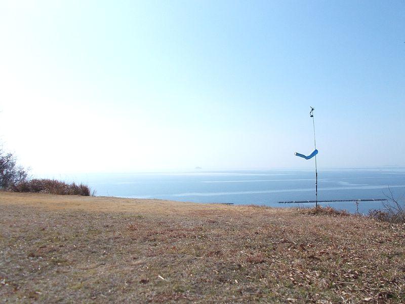 福泊飛行場から播磨灘を眺望する