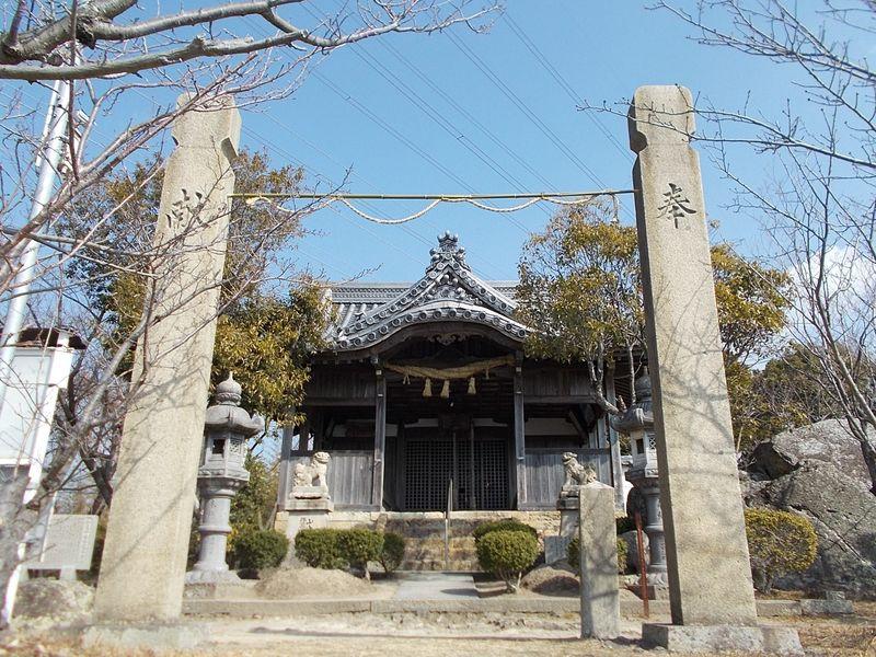 小赤壁頂上の木庭神社